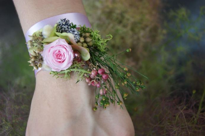 Bracelet de fleurs stabilisé N° 24