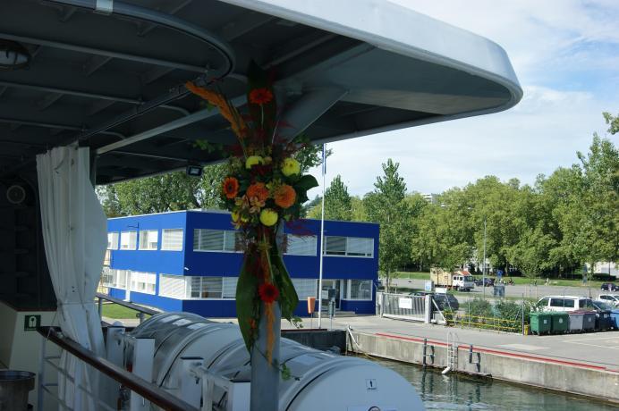 Décoration sur le bateau le Lavaux N° 29