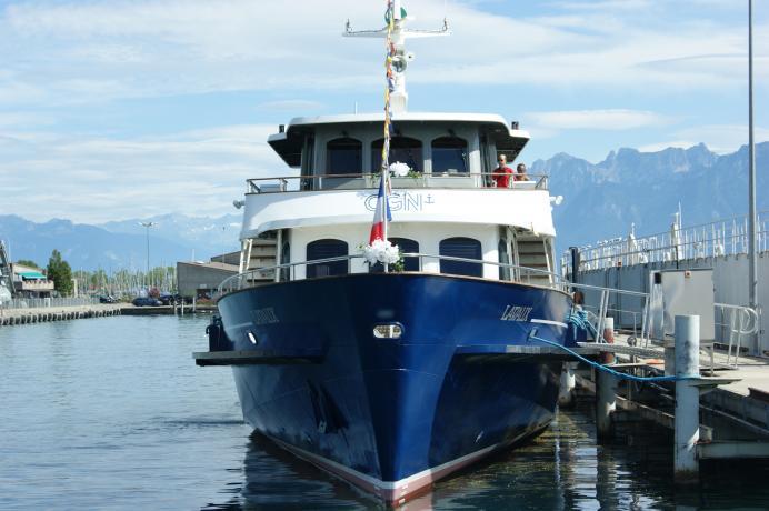 Décoration sur le bateau le Lavaux N° 31