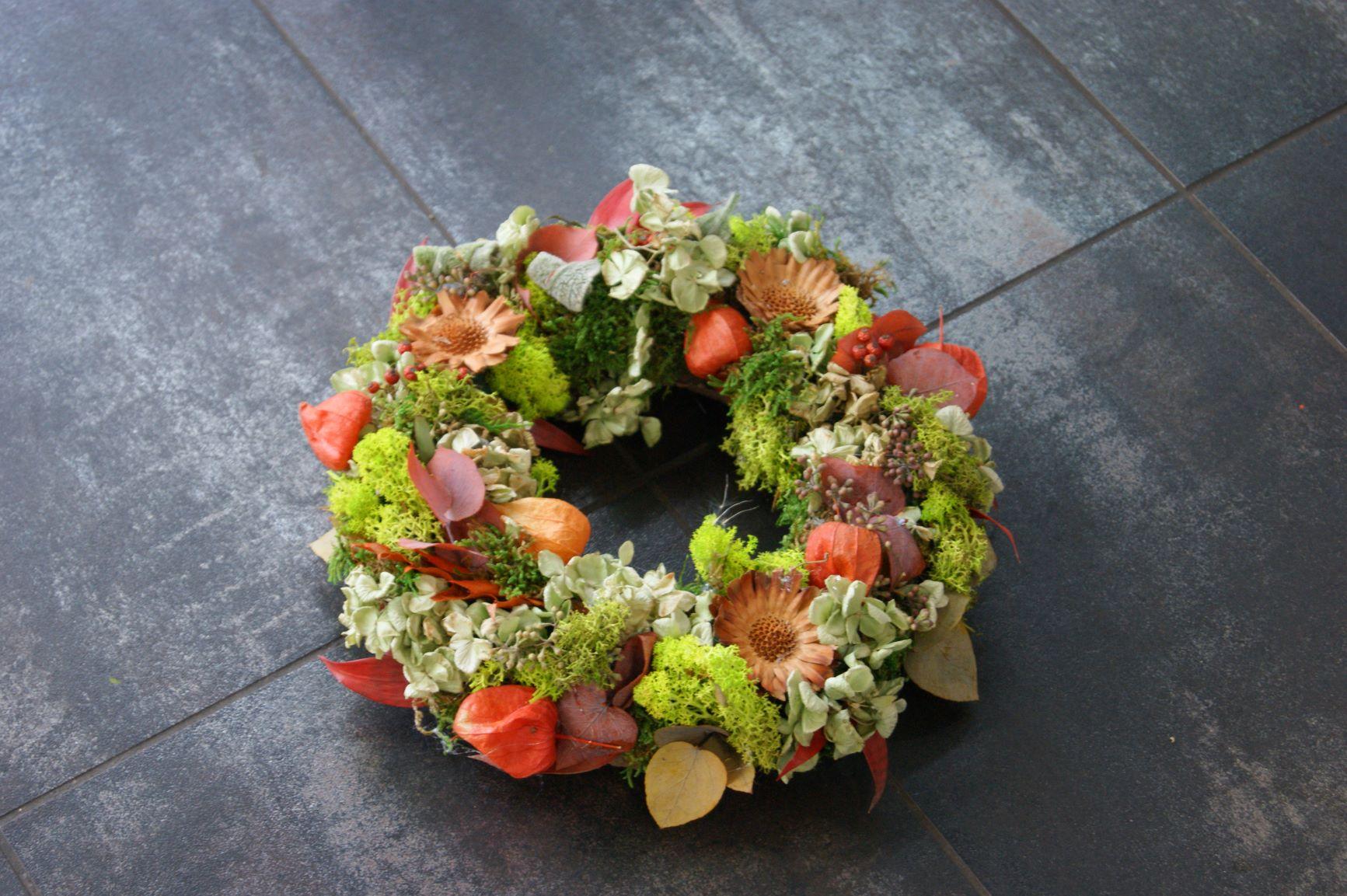 Couronne de fleurs séchées Ø 25cm  N° 7