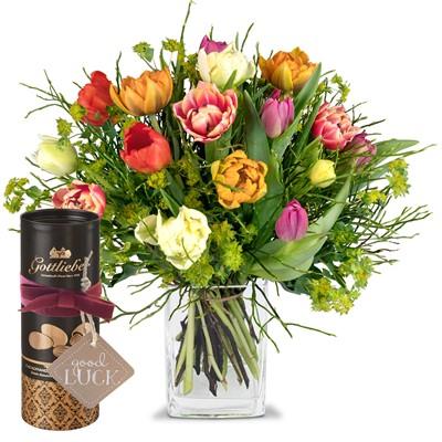 Bouquet de tulipes avec amandes au cacao Gottlieber N° 3