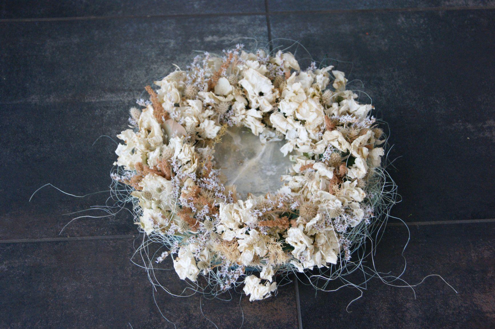 Couronne de fleurs séchées Ø 25cm  N° 8
