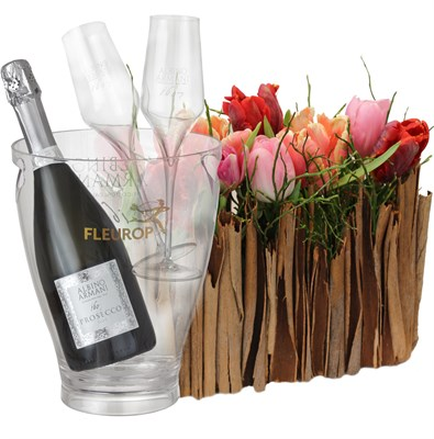 Arrangement de tulipes avec prosecco Albino Armani DOC Extra Dry (75 cl) N° 9