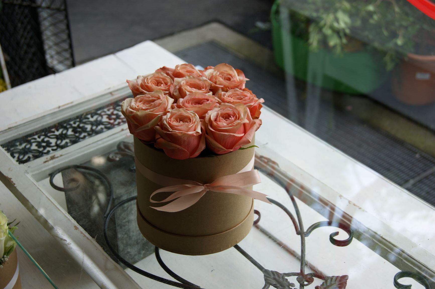 Boite avec roses moyenne N° 12