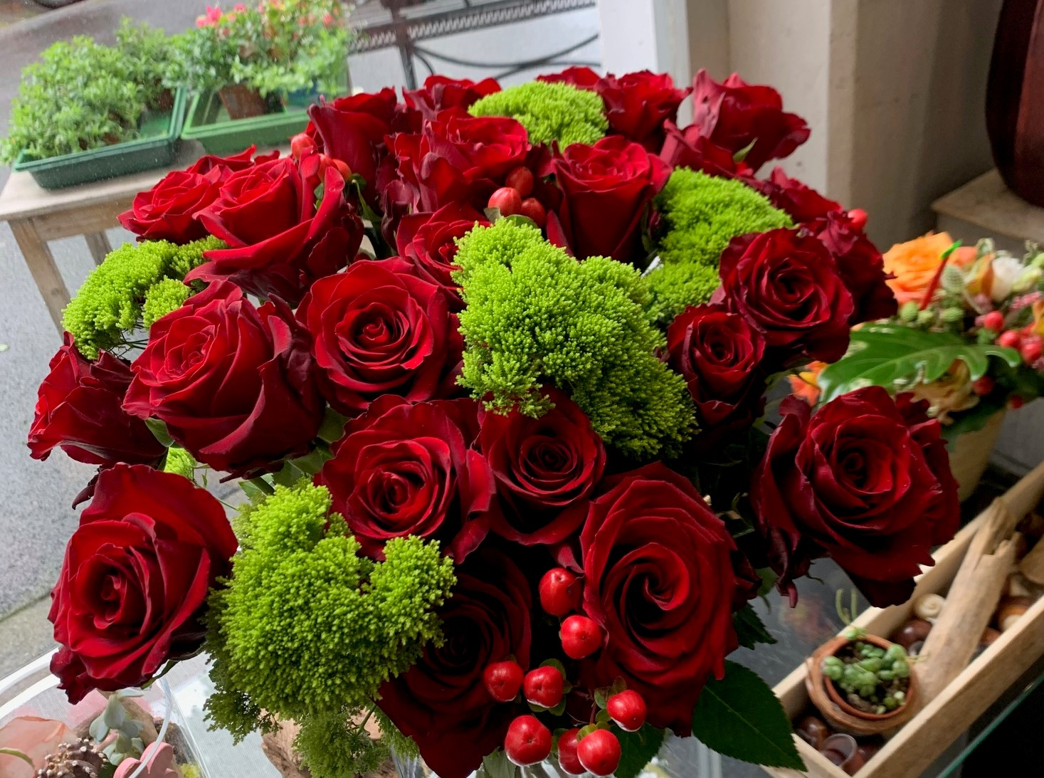 Bouquet de roses rouges N°20