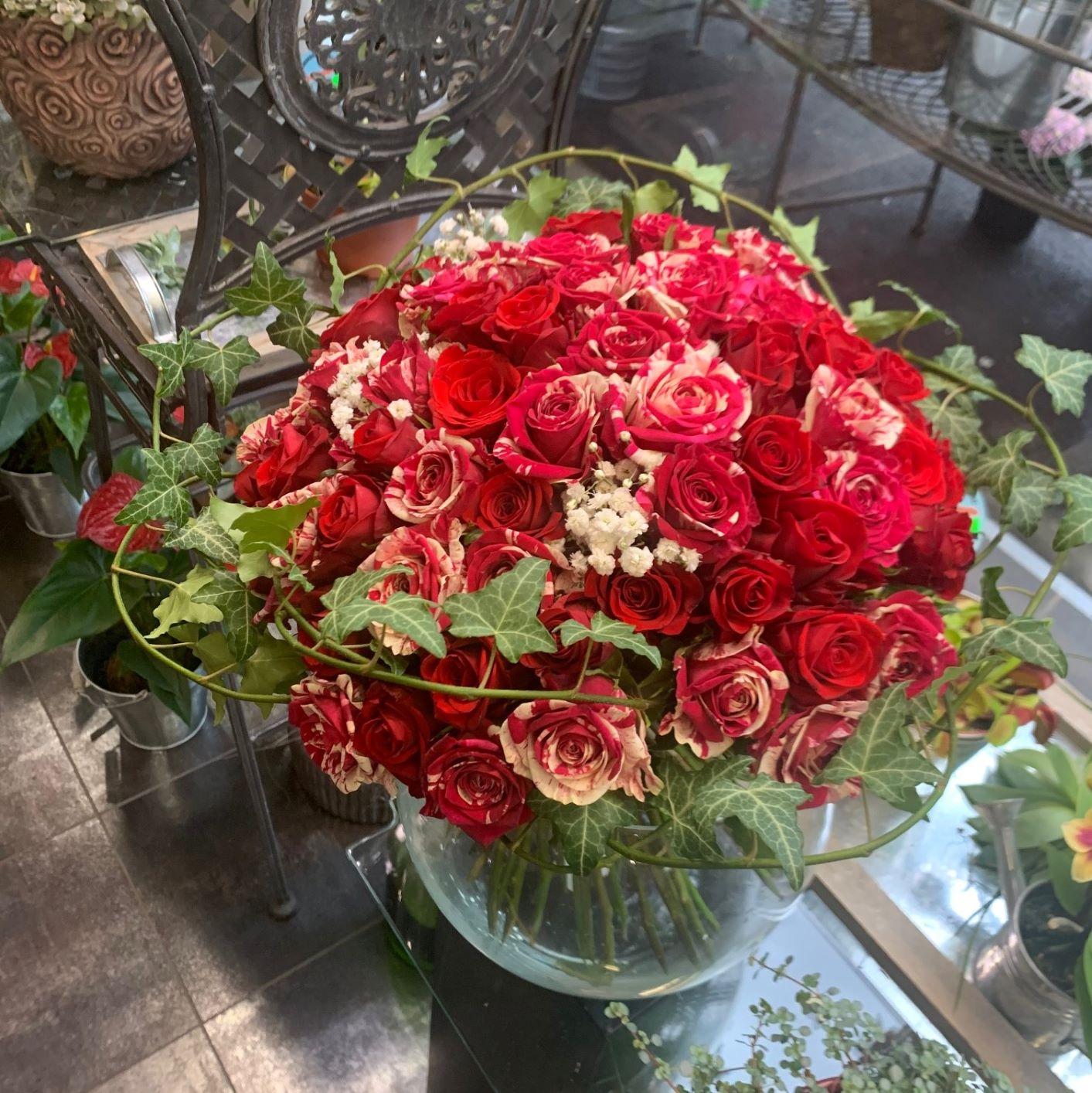 Bouquet de 60 roses N° 4