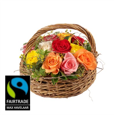 Joyeux pot pourri avec roses Fairtrade Max Havelaar N° 23