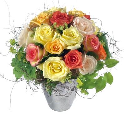 Bouquet de roses mélanges N° 12
