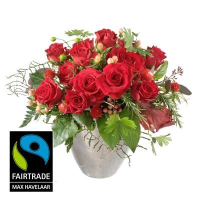 Pour mon trésor avec roses rouges petites tête N° 16