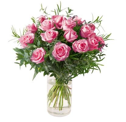 Bouquet de 15 roses roses N° 21