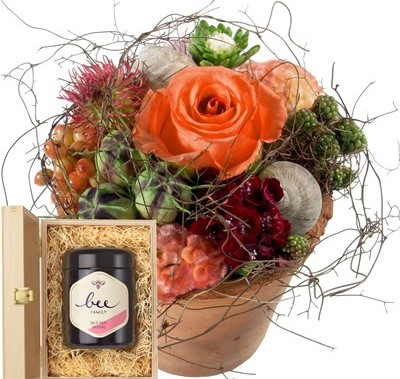 Petit bisou fleuri avec du miel de fleurs suisse  N° 3