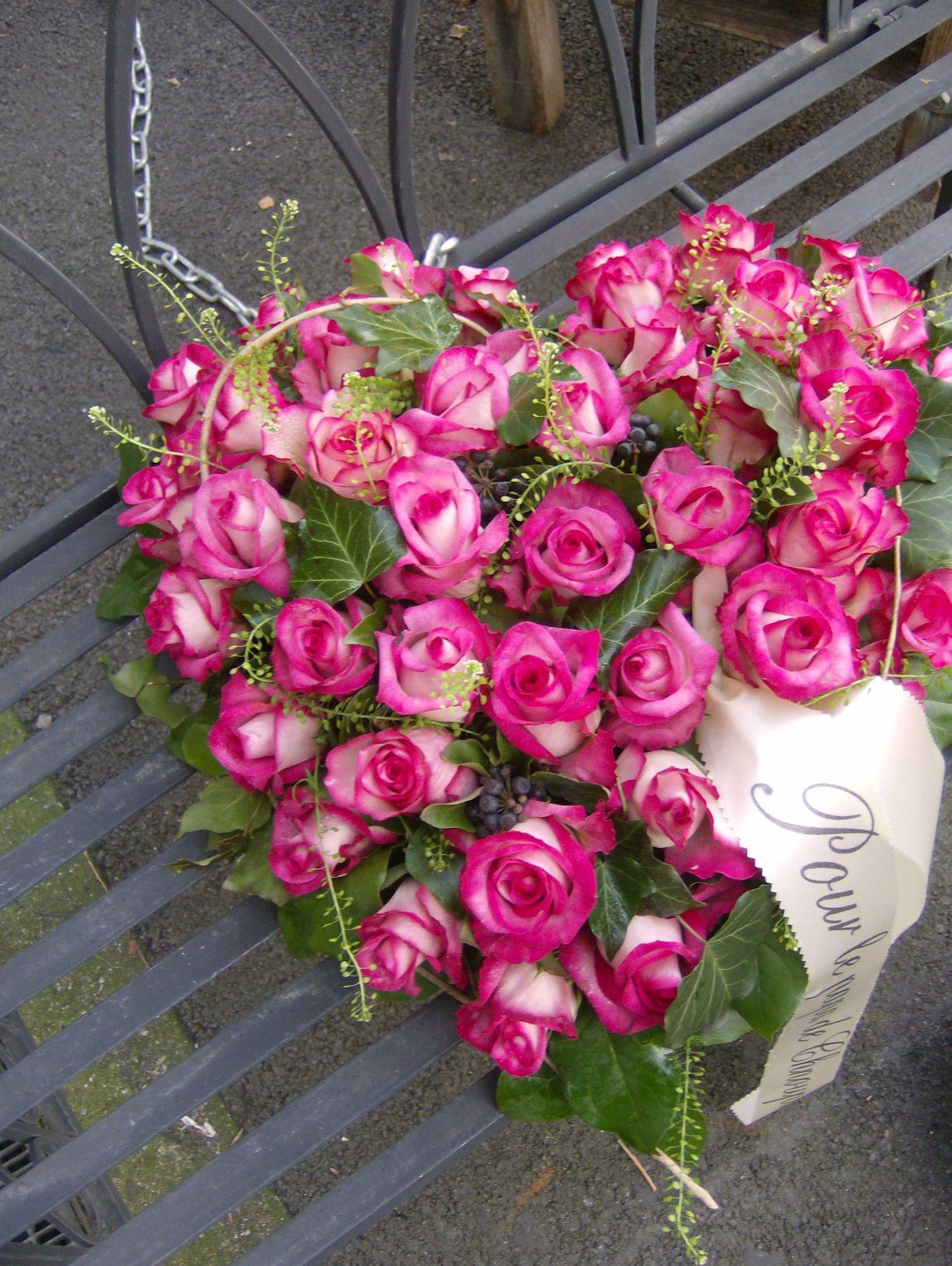 Cœur roses bicolores  N° 25